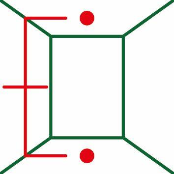 Bosch UniversalLevel 2 dve linije i dve tačke