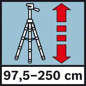 Visina stativa od 97,5-250 cm Bosch BT 250
