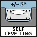 Bosch GLL 5-50 X područje samostalnog nivelisanja