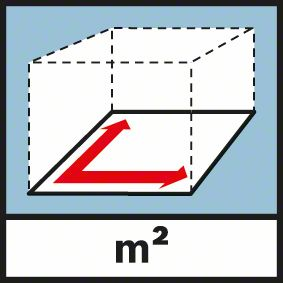 Funkcija merenja površine GLM 250 VF