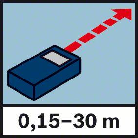 Domet merenja do 30 metara Bosch GLM 30