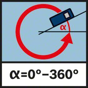 Funkcija ugla libele Bosch GLM 80