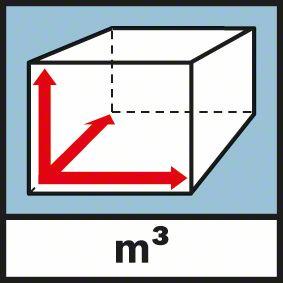 Funkcija merenja zapremene Bosch GLM 80