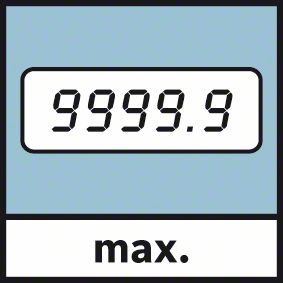 Maksimalno merenje 9999 metara Bosch GWM 32