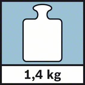 Težina 1,4kg Bosch GWM 32