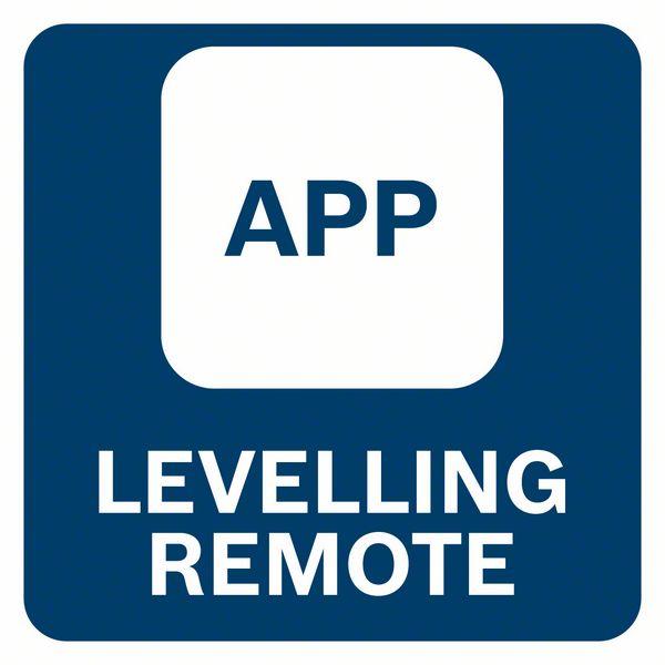 Upravljanje laserom preko aplikacije za pametne telefone Bosch GLL 3-80 CG