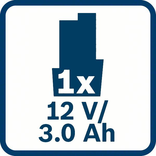 3,0 Ah kapacitet baterije Bosch GBA 12V 3,0 Ah