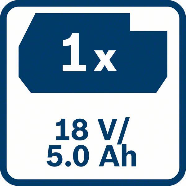 5,0 Ah kapacitet baterije Bosch GBA 18V 5,0 Ah