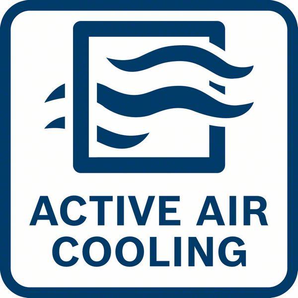 GAL 1880 CV punjač ima aktivno hlađenje vazduhom