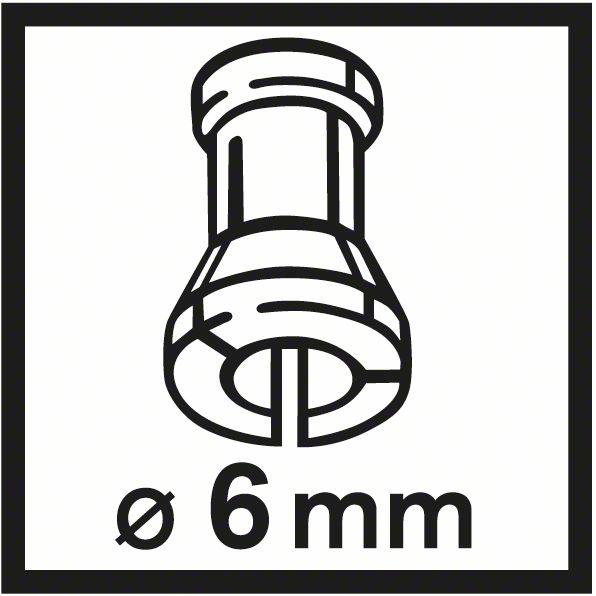 Bosch GKF 550 čaura 6mm