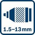 Bosch GSB 20-2 prečnik stezanja futera