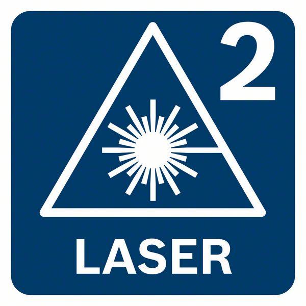 Bosch GCL 2-50 G klasa lasera 2