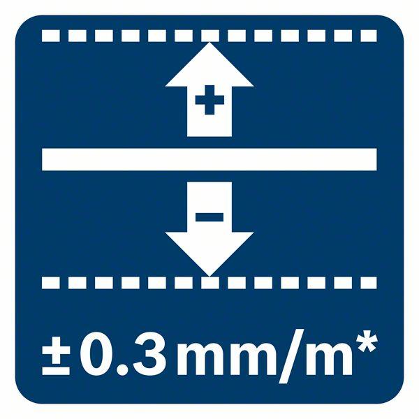 Bosch GCL 2-50 G tačnost plus minus 0,3mm/m