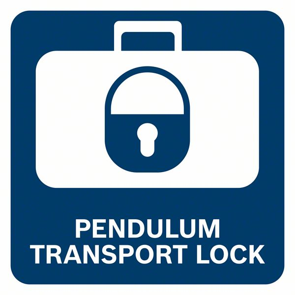 Zaključavanje klatna za bezbdedan transport Bosch GCL 2-50 G