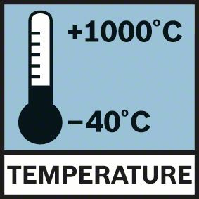 Bosch GIS 1000 C merno područje -40°C - 1000°C