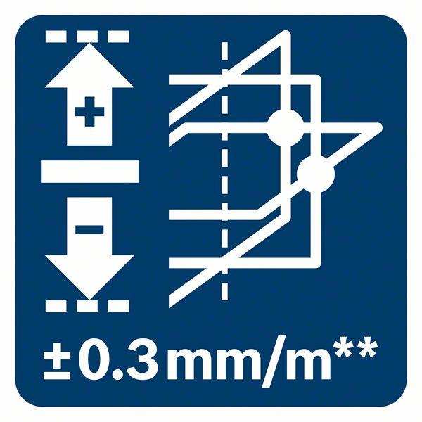 Tačnost plus minus 0,3mm/m Bosch GLL 3-80 G