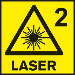 Klasa lasera 2 (odnosi se na štetnost gledanja u lasersku tačku)