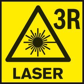 Bosch GRL 300 HV klasa lasera 3R