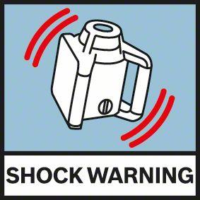 Bosch GRL 300 HV upozorenje od pomeranja šoka