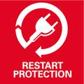 Restart protection - zaštita protiv neželjenog ponovnog starta Metabo