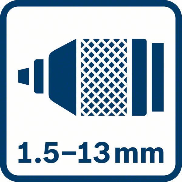 Bosch GSB 13 RE metalni futer od 1,5 do 13mm