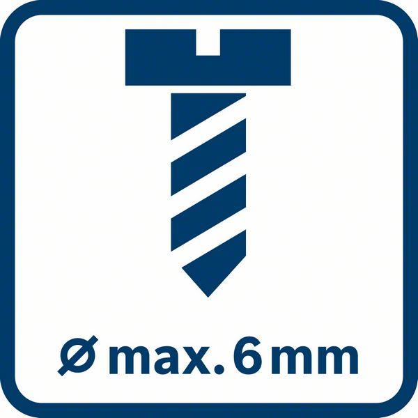 Makismalni prečnik vijaka 6mm Bosch GTB 650