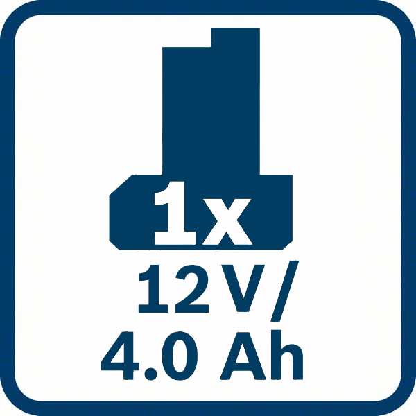 1 x 4,0 Ah kapacitet baterije Bosch GBA 12V 4,0 Ah