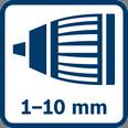 Bosch GSB 120-Li brzostezni futer opsega 1-10mm