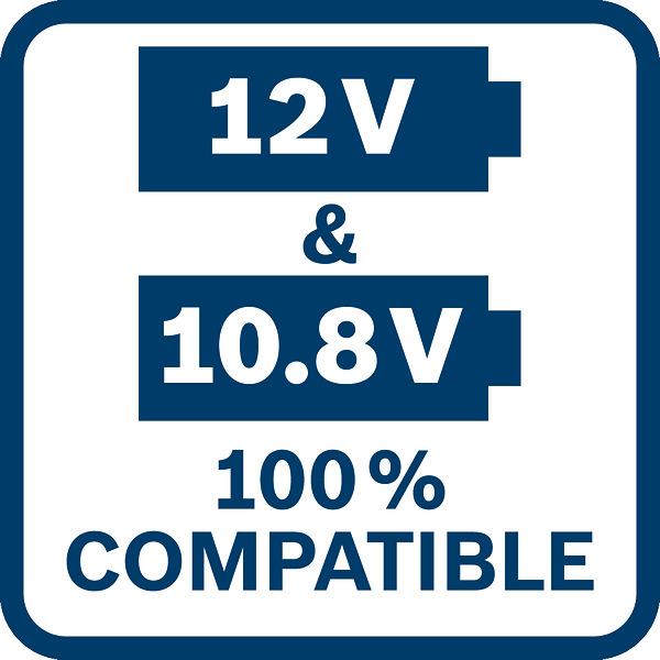 Bosch GSR 120-Li kompatibilna sa baterijama od 10,8V