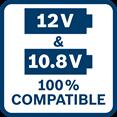 Bosch GSR 12V-15 FC kompatibilan sa 10,8V
