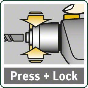Bosch UniversalImpact 700 blokada vretena za zamenu alata