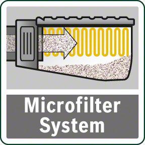 Bosch PBS 75 AE mikrofilter sistem
