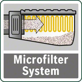 Bosch PEX 300 AE mikrofilter sistem