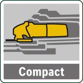 Bosch PWS 850-125 kompaktan dizajn